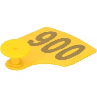 Ear Tag Trapezoid with Number